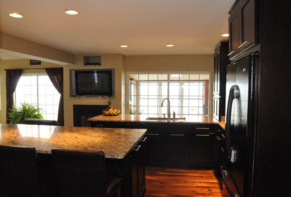 dark cabinets in kitchen