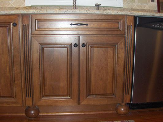 dark wood kitchen cabinet