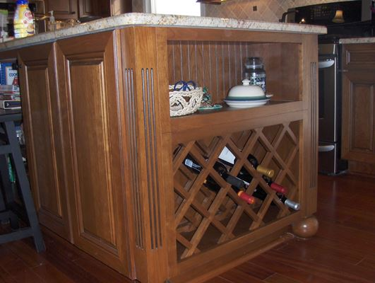 kitchen island wine storage