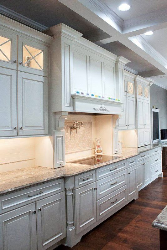 light cabinets stone counter tops