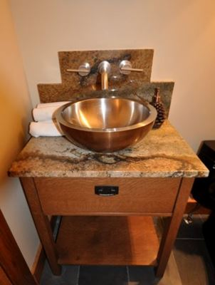 Small Wood Cabinet With Sink